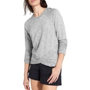 Athleta Criss Cross Hem Sweatshirt Heather Gray